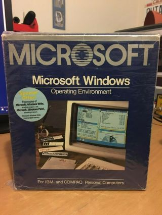 Microsoft Windows 1.  0 Vintage Part No.  050 - 050 - 004