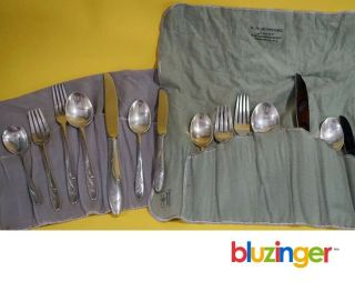 Towle Sterling Silver Awakening Flatware (2) 7 - Piece Place Settings