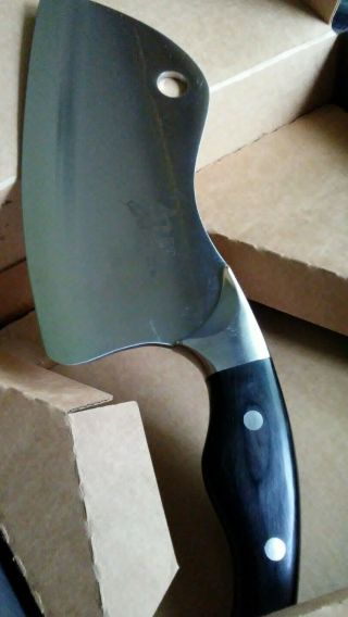 SHUN Ken Onion MEAT Cleaver DM0518 With Stand VG10 RARE HTF HANDSOME 3