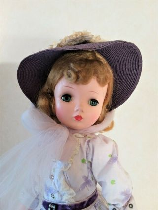 Vintage Cissy In Lovely Purple Butterfly Dress Hat Slip Pants