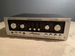 Marantz Model 1070 Vintage Console Stereo Amplifier As - Is