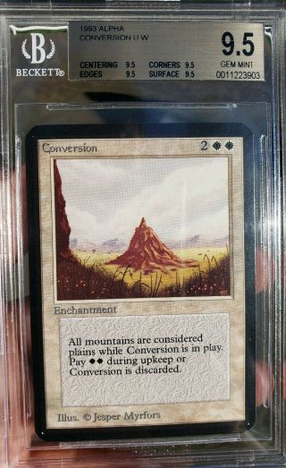 Vintage Magic | Mtg Bgs 9.  5 Alpha Conversion,  Quad,