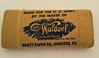 Tissue Made For U S Army By Scott Paper Co. ,  Ww 2