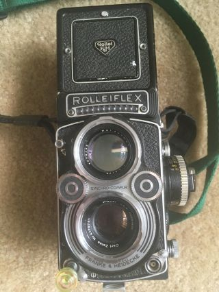 Vintage Rolleiflex 3.  5f Camera With Accessories - In