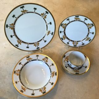 Christian Dior Casablanca 5pc China Place Settings Rare 10 Available