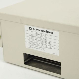 Vintage Commodore 128D Personal Computer with 128D Keyboard 452 5
