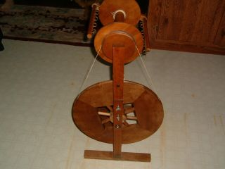Awesome Vintage Ashford Spinning Wheel W Jumbo Flyer