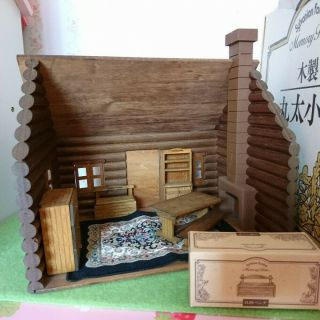 Sylvanian Families Memory Time Log Cabin Calico Critters F/s Vintage