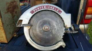 "Antique Rockwell Porter Cable 12 "" Circular Saw.  In Case With Tools"