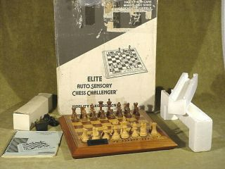Vintage Fidelity Electronics Elite A/s Challenger Eas Chess Computer Complete