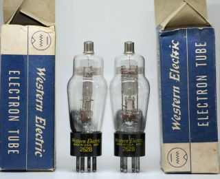 Western Electric We 262b Tube Mesh Matched Pair Nos Nib Valve Vintage Preamp 245