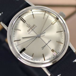 Vintage Omega Seamaster Automatic Silver Dial Cross Line Analog Dress Mens Watch