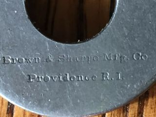 Rare Brown And Sharpe Micrometer Machinist Tool Pat 1878 Very Small 8