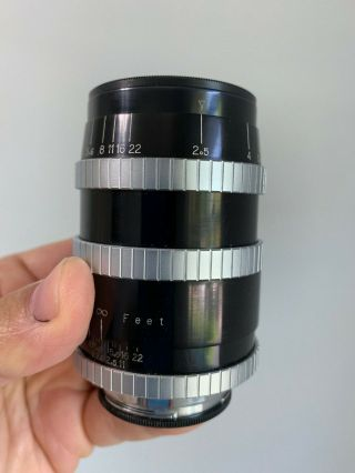 Angenieux 90mm F2.  5 Type Y12 Vintage France Exakta Exacta Exa Mount Lens