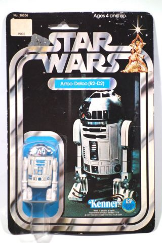 Vintage Star Wars 1977 Kenner R2 - D2 12 Back A Sku On The Footer