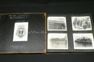 Rare Wwii B&w Photo Album Royal Canadian Navy Prince David D - Day Allied Germans,