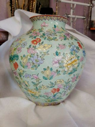Estate Large Chinese Antique Porcelain Vase Marked Asian China