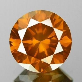 1.  32 Cts Sparkling Very Rare Fancy Vivid Orange Color Natural Diamond