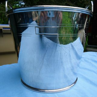 Rare Vtg Ralph Lauren Large Silver Plate Bucket Special Occasion Signed W/pouch