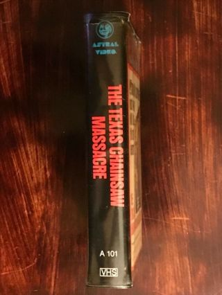 The Texas Chainsaw Massacre VHS Astral Video Rare Horror Big Clamshell Box HTF 3