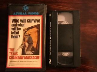 The Texas Chainsaw Massacre VHS Astral Video Rare Horror Big Clamshell Box HTF 4