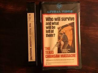 The Texas Chainsaw Massacre VHS Astral Video Rare Horror Big Clamshell Box HTF 5