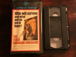 The Texas Chainsaw Massacre VHS Astral Video Rare Horror Big Clamshell Box HTF 6