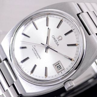 Vintage Omega Seamaster Automatic Silver Dial Date Dress Men