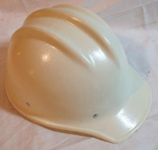 Vintage Bullard 502 Hard Boiled White Fiberglass Hard Hat