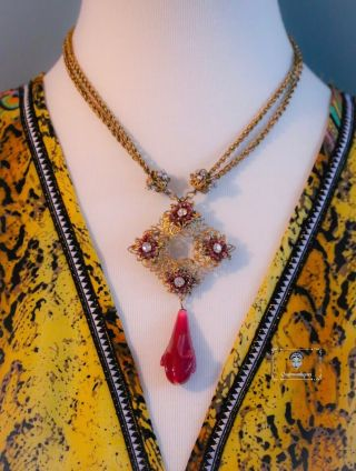 Vintage Miriam Haskell Gorgeous One Of A Kind Classic Necklace
