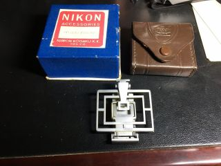 Vintage Nikon Sports Frame Finder With Carry Case And