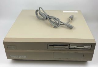 Vintage Commodore Amiga 2000 With Power Cord,  And