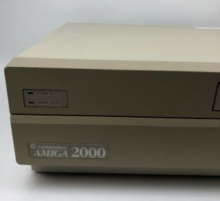 Vintage Commodore Amiga 2000 With Power Cord,  and 6