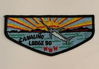 Order Of The Arrow Canaliño Lodge 90 S3a Rare Flap