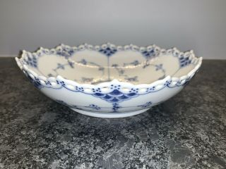 Vintage Royal Copenhagen Blue Fluted Full Laced Cake Plate 1018 - 1st Quality