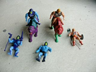 Vintage Group Of He - Man,  Sleletor,  Battle Cat,  Panthor (1981) Mattel
