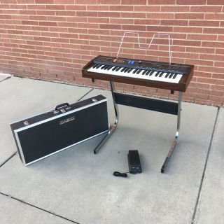 Vtg Casio Ct - 101 Casiotone Analog Synth Poly Keyboard With Stand Case & Pedal