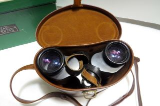 Vintage Carl Zeiss Binoculars 8 X 30 With Leather Case And