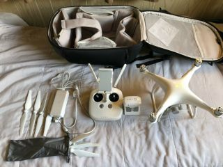 Dji Phantom 4 Drone.  Rarely,  No Crashes And In.  Includes Bp