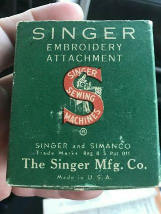Rare Singer Featherweight Embroidery Attachment Simanco 26538 26524