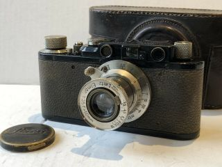 Very Rare Leica Ii Converted From Leica I Elmar 50mm Black Nickel From 1930