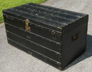 Scarce Vintage Louis Vuitton Courrier Steamer Trunk Lv Monogram 1910
