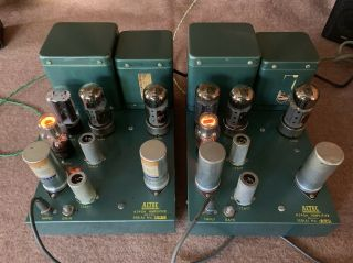 2 Altec A 340A 6550 tube studio grade vintage audio amplifiers Mono Block A340A 11