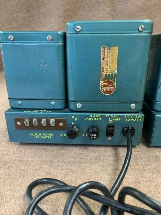 2 Altec A 340A 6550 tube studio grade vintage audio amplifiers Mono Block A340A 6