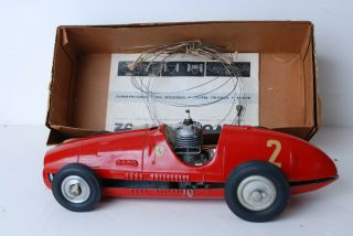 Movosprint 52 Italian Gas Engine Red Ferrari Vintage Tether Car