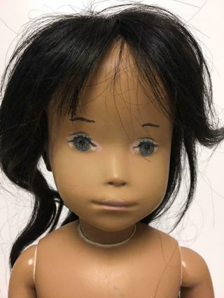 "Vintage 20 "" Sasha Studio Doll With Wig,  Marked On Foot"