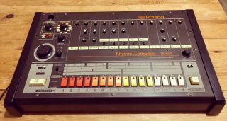 Vintage Roland Tr - 808 Drum Machine With Kenton Midi