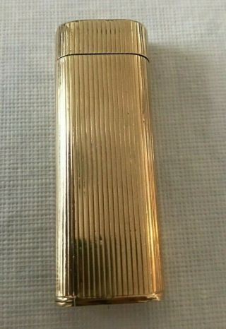 Rare Vintage Authentic Cartier Solid 14k Gold Cigarette Lighter
