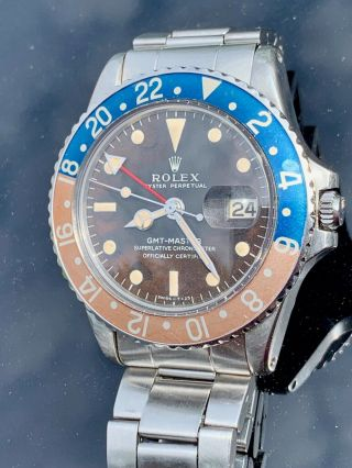 Vintage Rolex 1675 GMT Master TROPICAL DIAL Box and Papers 2