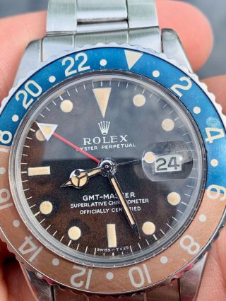Vintage Rolex 1675 GMT Master TROPICAL DIAL Box and Papers 3